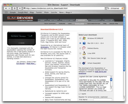 Download SlimServer