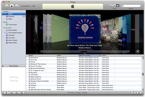 iTunes Coverflow Windowed 7.3